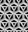 3D Lattice Vector Seamless Pattern, Based on Impossible Triangle