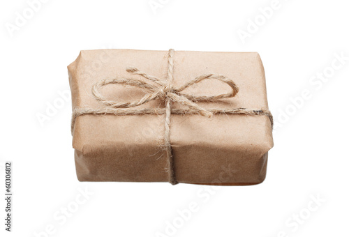 Small blank parcel in kraft