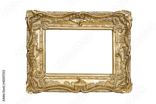 Gold frame with clipping path