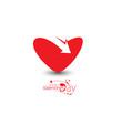Valentine Day Heart Arrow Design.