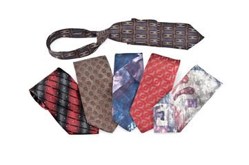 Six varicoloured neckties