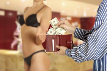 Prostitution concept