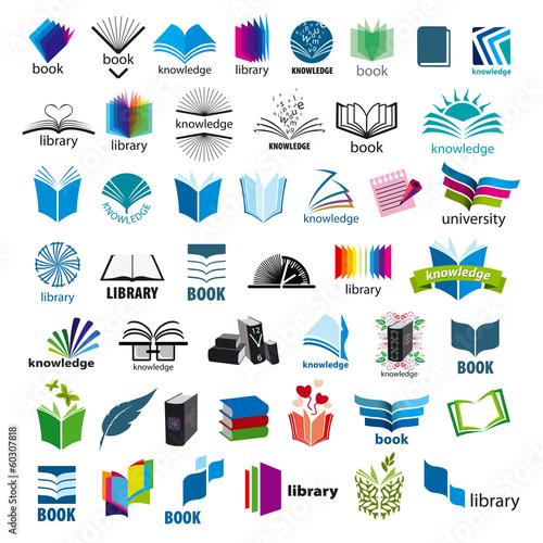 największa kolekcja książek z logo wektorowym