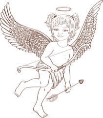 angel for St. Valentine`s Day
