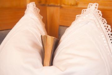 Buch im Kissen