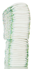 Large stack of diapers