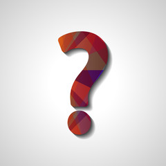 Abstract question mark, style illustration