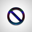 No Sign , abstract style illustration, isolated symbol
