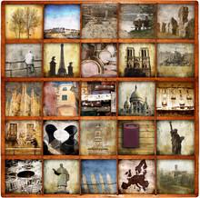 tourisme collage à bord