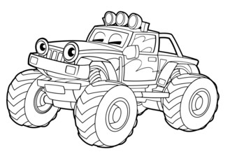Coloring page - vehicle - illustration for the children