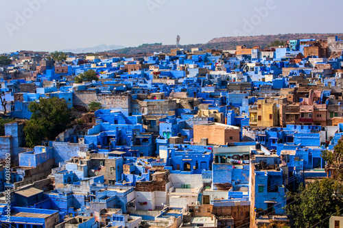 Fotobehang India View of Jodhpur, The Blue City, Rajasthan, India