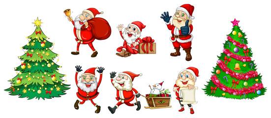 Santa with the christmas trees