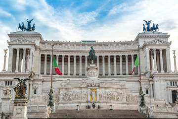 Equestrian monument to Victor Emmanuel II near Vittoriano in Rom