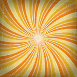 orange spiral striped background