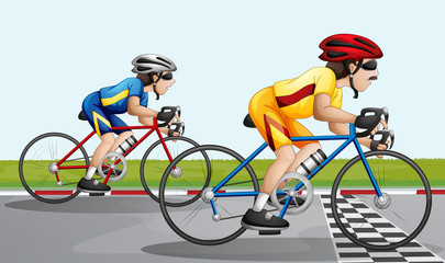 A biking race