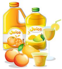 Different juice drinks