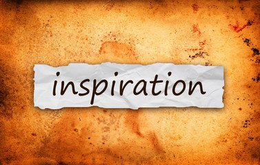 Inspiration title on piece of paper