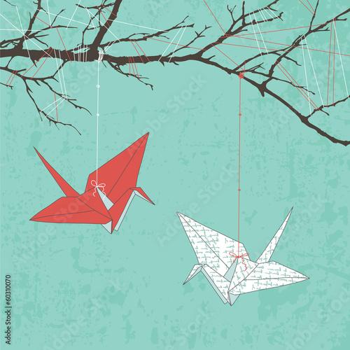 Paper Cranes © Kitigan
