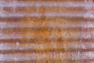 Rusted Corrugated Steel Panel