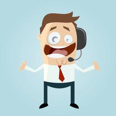 support callcenter headset freundlich mann