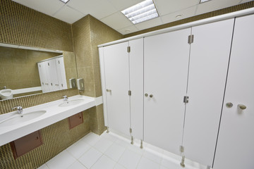 Toilet room in modern busines center