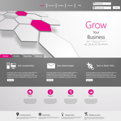 Business Minimal Website Template