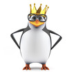 Academic penguin has been crowned