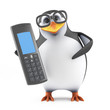 Academic penguin with mobile