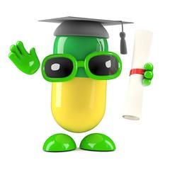 Pill graduates