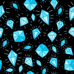 Diamonds background vector