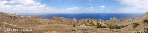 Porto Santo north coast panorama