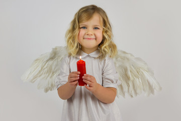 Angel with red candle