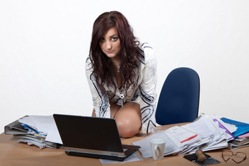Young female office worker