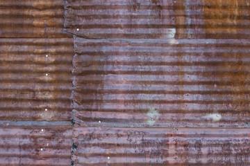 Rusted Corrugated Steel Panel