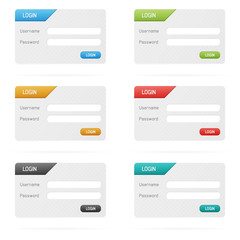 Vector login forms