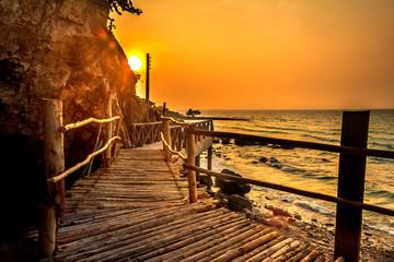 Wood Bridge Sunset
