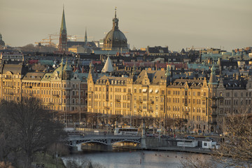 Stockholm view at sunset