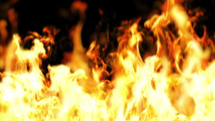 Beautiful Fire in Looped Animation. HD 1080.