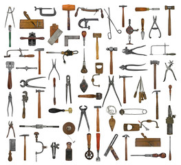 vintage tools collage