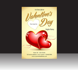 abstract valentine flyer