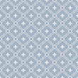 White and Pale Blue Fleur-De-Lis Pattern Textured Fabric Backgro