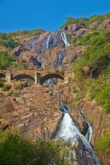 Dudhsagar falls. Bhagwan Mahavir Wildlife Sanctuary, GOA, India