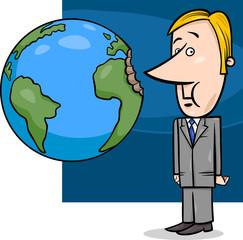 business concept cartoon illustration