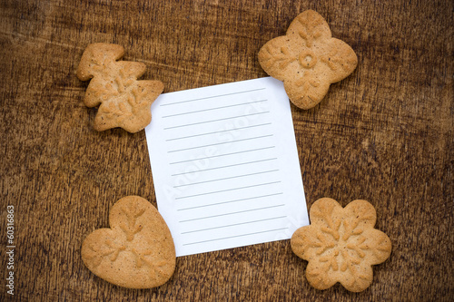 Cookies with a lined paper piece