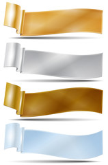 Set of four banners - ribbons - place for your text