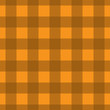 Orange Plaid Striped Lumberjack Textured Fabric Background