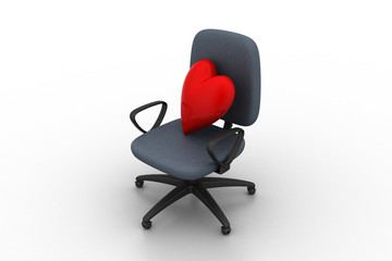 Heart sign in chair