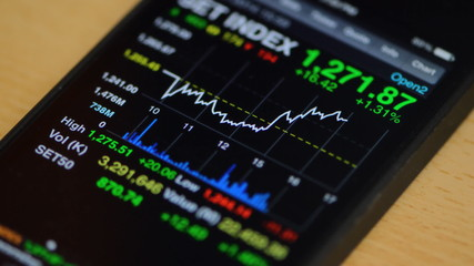 Stock market on smart phone