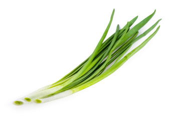 Green onion isolated on white