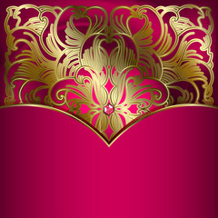 Luxury background with gold ornament.